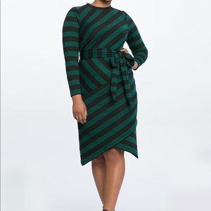 Eloquii Striped Dress NWOT Size 16